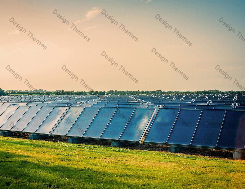 MASSIVE DEPLOYMENT OF SOLAR PANELS